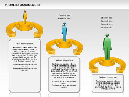 Process Management Diagram, Slide 9, 00880, Process Diagrams — PoweredTemplate.com