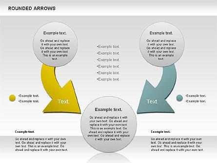 Rounded Arrows Shapes, Slide 10, 00881, Business Models — PoweredTemplate.com