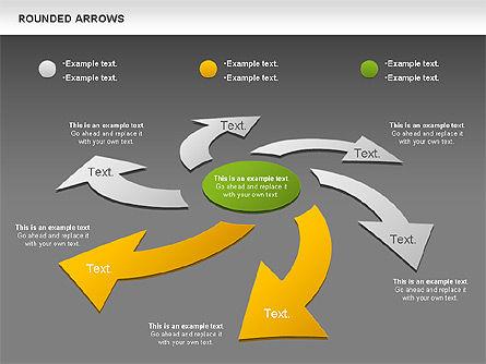 Rounded Arrows Shapes, Slide 12, 00881, Business Models — PoweredTemplate.com