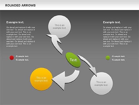 Rounded Arrows Shapes, Slide 13, 00881, Business Models — PoweredTemplate.com