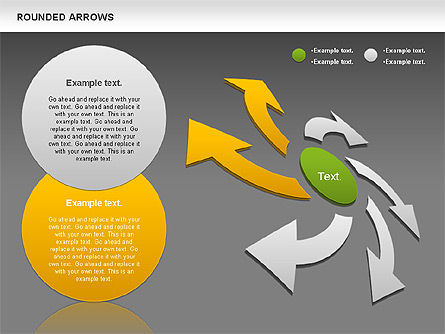 Rounded Arrows Shapes, Slide 14, 00881, Business Models — PoweredTemplate.com