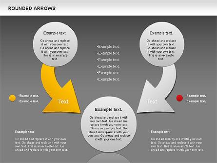 Rounded Arrows Shapes, Slide 16, 00881, Business Models — PoweredTemplate.com