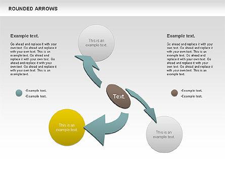 Rounded Arrows Shapes, Slide 2, 00881, Business Models — PoweredTemplate.com