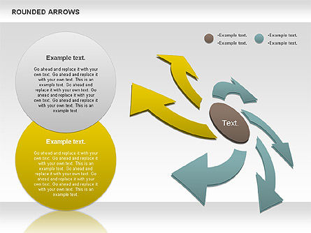 Rounded Arrows Shapes, Slide 3, 00881, Business Models — PoweredTemplate.com