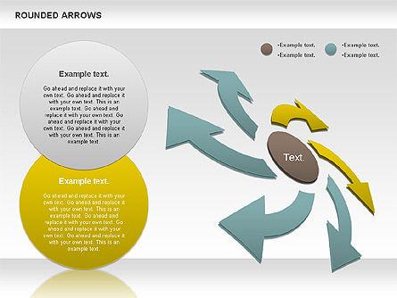 Rounded Arrows Shapes, Slide 4, 00881, Business Models — PoweredTemplate.com