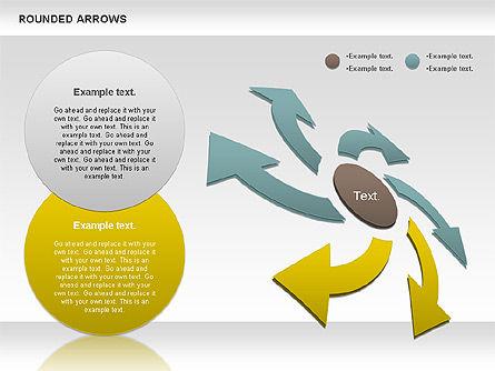 Rounded Arrows Shapes, Slide 5, 00881, Business Models — PoweredTemplate.com