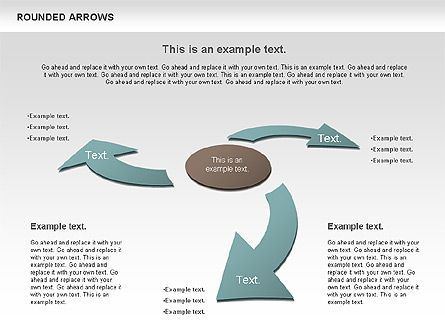Rounded Arrows Shapes, Slide 6, 00881, Business Models — PoweredTemplate.com