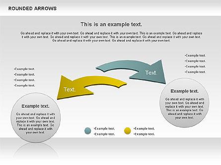Rounded Arrows Shapes, Slide 7, 00881, Business Models — PoweredTemplate.com