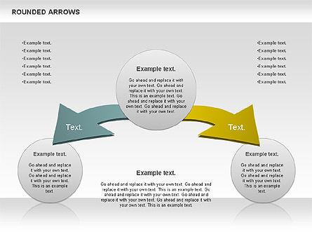 Rounded Arrows Shapes, Slide 8, 00881, Business Models — PoweredTemplate.com