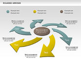 Business Models: Rounded Arrows Shapes #00881