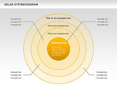 Solar System Diagram, Slide 5, 00882, Business Models — PoweredTemplate.com