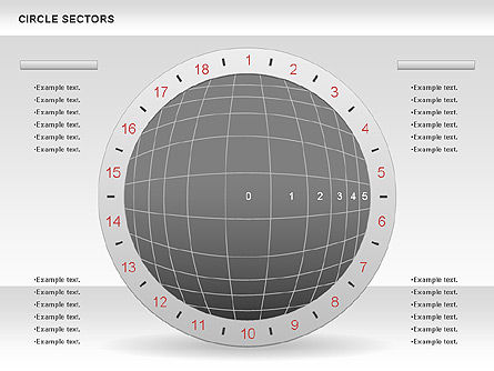 Circle Sectors Chart, 00884, Business Models — PoweredTemplate.com