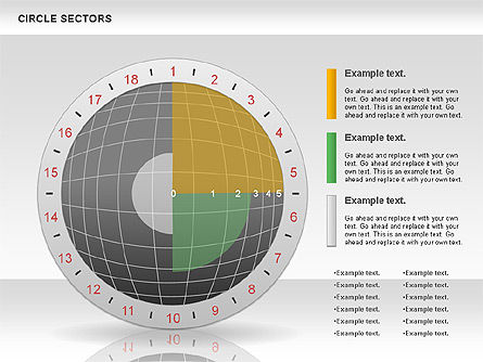 Circle Sectors Chart, Slide 11, 00884, Business Models — PoweredTemplate.com