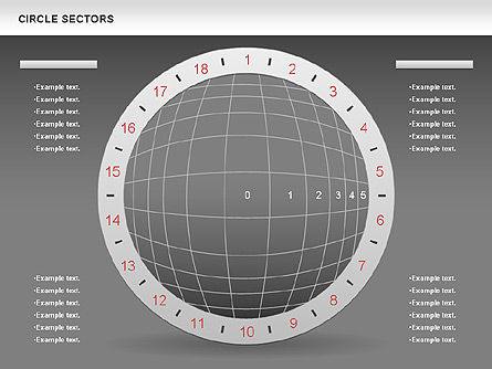 Circle Sectors Chart, Slide 12, 00884, Business Models — PoweredTemplate.com