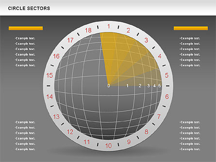 Circle Sectors Chart, Slide 13, 00884, Business Models — PoweredTemplate.com