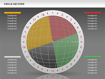 Circle Sectors Chart, Slide 15, 00884, Business Models — PoweredTemplate.com