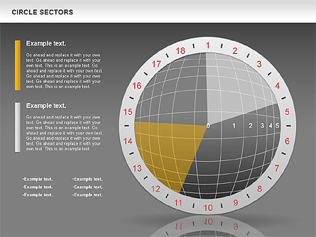 Circle Sectors Chart, Slide 16, 00884, Business Models — PoweredTemplate.com