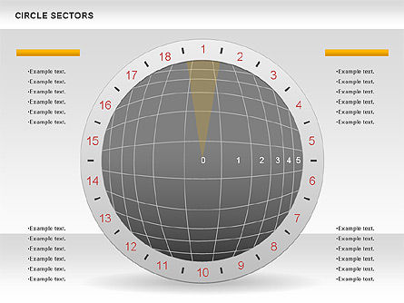 Circle Sectors Chart, Slide 2, 00884, Business Models — PoweredTemplate.com