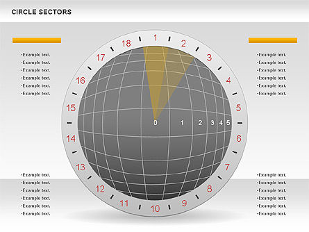 Circle Sectors Chart, Slide 3, 00884, Business Models — PoweredTemplate.com