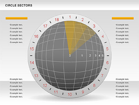 Circle Sectors Chart, Slide 4, 00884, Business Models — PoweredTemplate.com