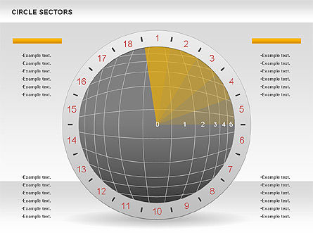 Circle Sectors Chart, Slide 6, 00884, Business Models — PoweredTemplate.com