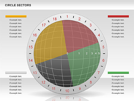 Circle Sectors Chart, Slide 8, 00884, Business Models — PoweredTemplate.com