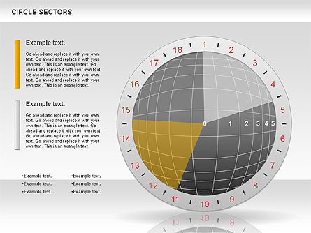 Circle Sectors Chart, Slide 9, 00884, Business Models — PoweredTemplate.com
