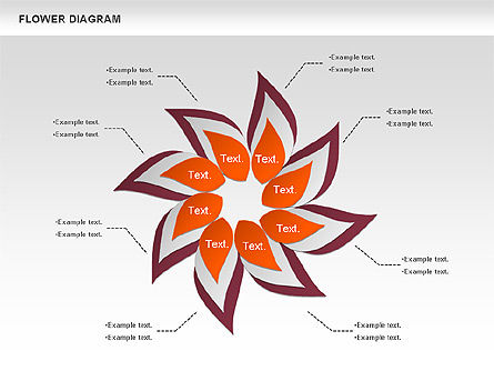 Flower Diagram, Slide 2, 00885, Business Models — PoweredTemplate.com