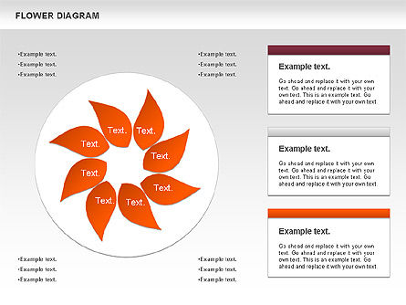 Flower Diagram, Slide 4, 00885, Business Models — PoweredTemplate.com