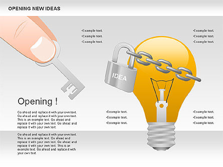 Opening New Ideas Shapes, 00886, Business Models — PoweredTemplate.com