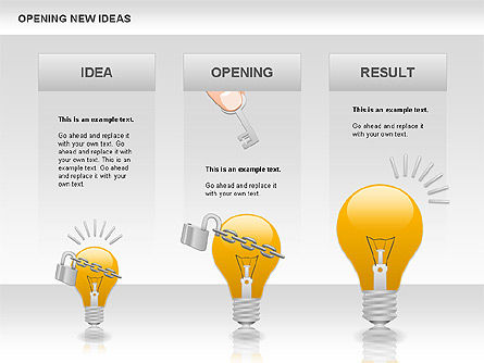 Opening New Ideas Shapes, Slide 2, 00886, Business Models — PoweredTemplate.com