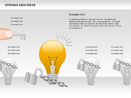 Opening New Ideas Shapes, Slide 3, 00886, Business Models — PoweredTemplate.com