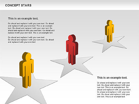 Concept Stars Diagram, Slide 10, 00890, Business Models — PoweredTemplate.com