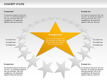 Concept Stars Diagram, Slide 12, 00890, Business Models — PoweredTemplate.com