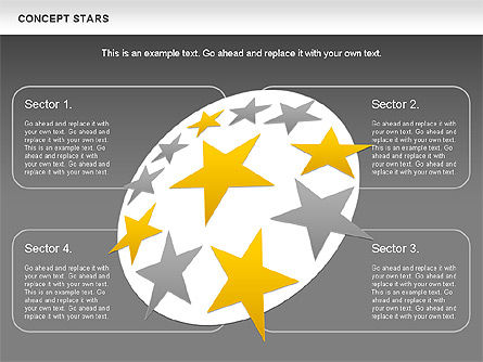 Concept Stars Diagram, Slide 17, 00890, Business Models — PoweredTemplate.com
