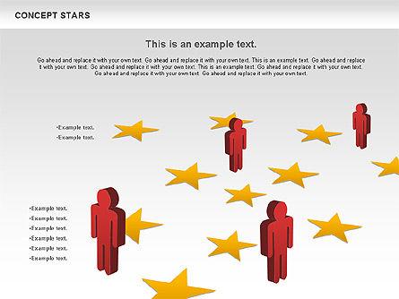 Concept Stars Diagram, Slide 2, 00890, Business Models — PoweredTemplate.com