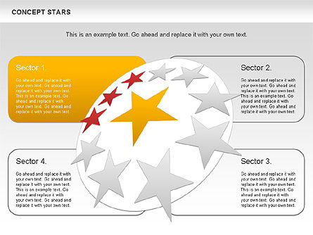 Concept Stars Diagram, Slide 4, 00890, Business Models — PoweredTemplate.com