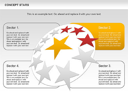 Concept Stars Diagram, Slide 5, 00890, Business Models — PoweredTemplate.com