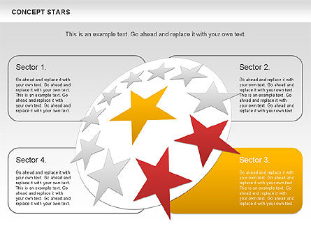 Concept Stars Diagram, Slide 6, 00890, Business Models — PoweredTemplate.com