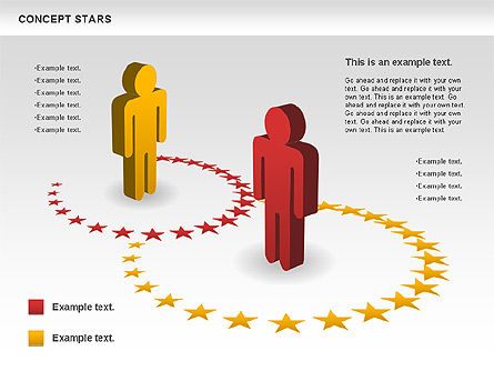 Concept Stars Diagram, Slide 8, 00890, Business Models — PoweredTemplate.com