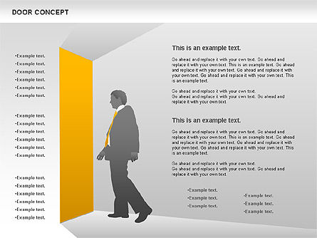 Door Concept Diagram, 00891, Business Models — PoweredTemplate.com