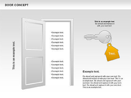 Door Concept Diagram, Slide 11, 00891, Business Models — PoweredTemplate.com