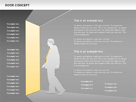 Door Concept Diagram, Slide 12, 00891, Business Models — PoweredTemplate.com