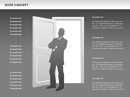 Door Concept Diagram, Slide 14, 00891, Business Models — PoweredTemplate.com