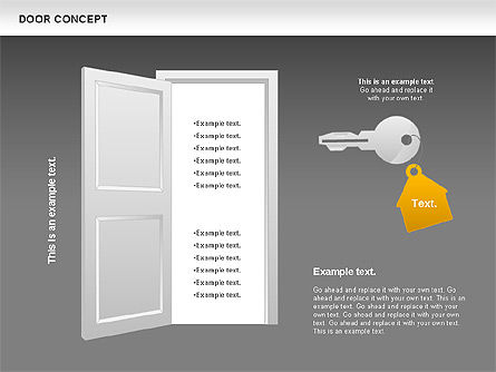 Door Concept Diagram, Slide 16, 00891, Business Models — PoweredTemplate.com