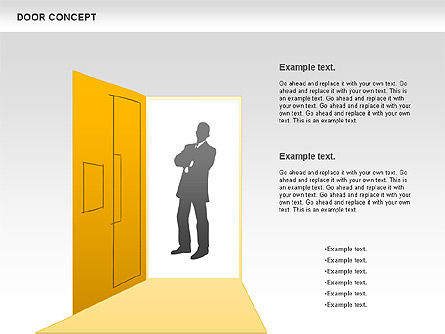 Door Concept Diagram, Slide 2, 00891, Business Models — PoweredTemplate.com