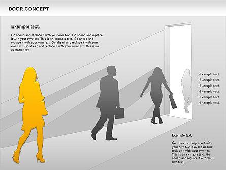 Door Concept Diagram, Slide 4, 00891, Business Models — PoweredTemplate.com