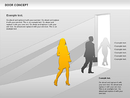 Door Concept Diagram, Slide 5, 00891, Business Models — PoweredTemplate.com