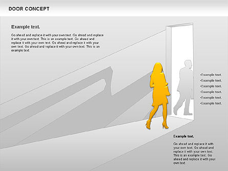 Door Concept Diagram, Slide 6, 00891, Business Models — PoweredTemplate.com