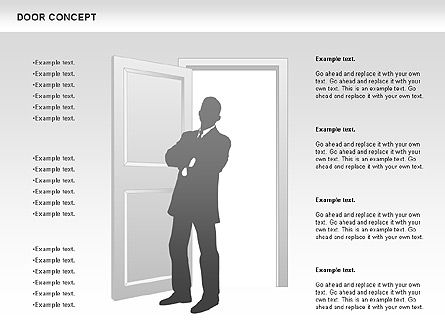 Door Concept Diagram, Slide 7, 00891, Business Models — PoweredTemplate.com